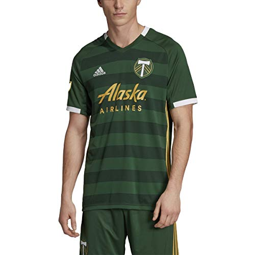 adidas Men's Portland Timbers Replica Jersey 2019 Home Kit (Small)