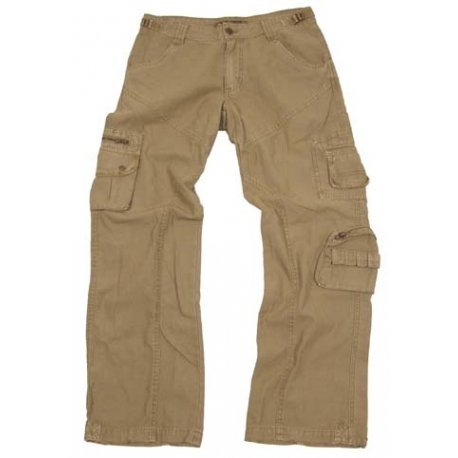 Tucuman Aventura - Pantalons Vintage Multi-Poches (Beige, 54)