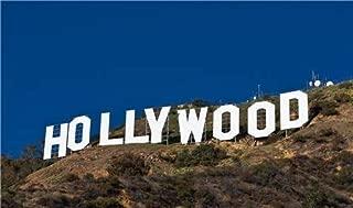 Hollywood Sign California Walk Fame Hills Decor Vivid Imagery Laminated Poster Print 11 x 17