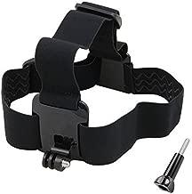VVHOOY Action Camera Head Strap Mount Compatible with Gopro Hero 9/8/7/6/5/4/AKASO EK7000/Brave 4/5/6 Plus/V50/APEMAN/Camprak/Dragon Touch/Vantop Moment/Crosstour 1080P 4K Sports Camera