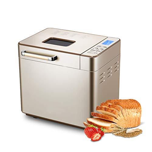 ZTGL Brotbackautomat Home, Kleine Intelligente Automatische Brotbackmaschine mit 25 Programmen, 3 Grad Bräunung, LCD-Display, Edelstahleimer