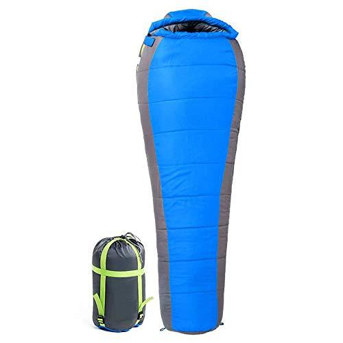 Jcnfa-sac de couchage Camping Adulte en Plein Air Coton Automne Et Hiver Épais Chaud Maman (Couleur : A, Taille : 205 * 85 * 55cm)