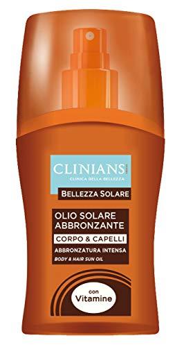 Clinians Huile Solaire abbronzante corps et cheveux – 150 gr