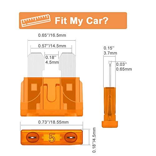 Car Auto   motive Rv Standard Fuses - Auto ATO Blade Fuse Assortment Kit (2A 3A 5A 7.5A 10A 15A 20A 25A 30A 35A)