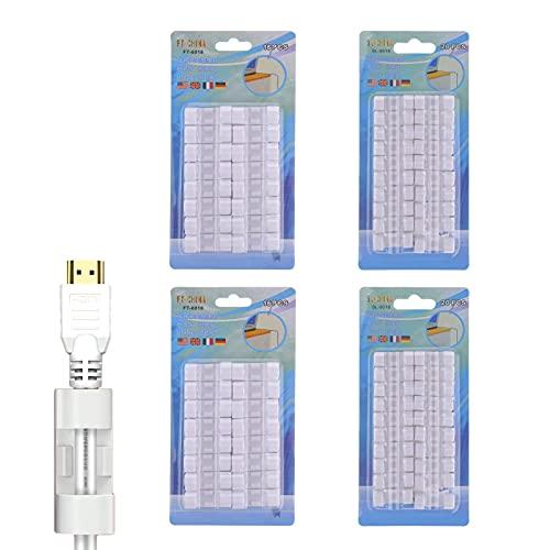 Keleily Sujeta Cables Adhesivo Blanco 72 Piezas Organizador de Cables Escritorio Organizador...