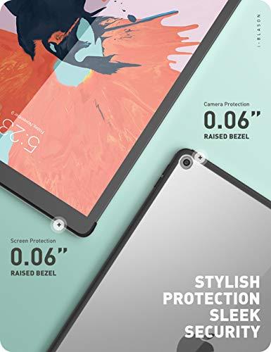i-Blason Hülle für iPad 7th 2019 /iPad 8th 2020 iPad 10.2 Zoll Case Transparent Schutzhülle Slim Hardschale Cover Kompatibel mit offiziellem Smart Cover und Smart Keyboard (Schwarz)