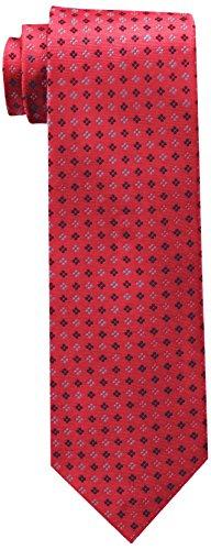 Tommy Hilfiger Men's Core Neat II Tie, Red, One Size