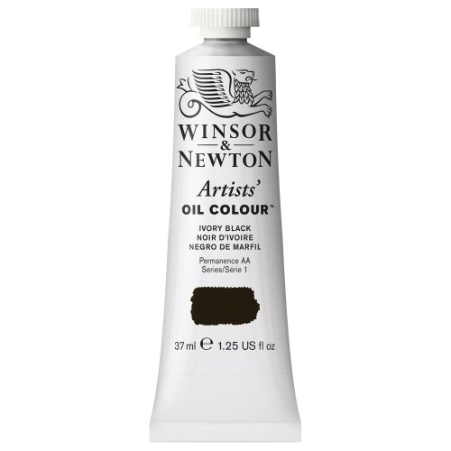 Winsor & Newton Artists' Oil Color Paint, 37-ml Tube, Ivory Black