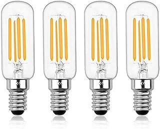 Bonlux E14 - Bombilla LED regulable, 4 W T25 220 V, filamento LED tubular, 40 W, equivalente a incandescente para horno de microondas, frigorífico y Hotte(lote de 4, blanco frío 6000 K)