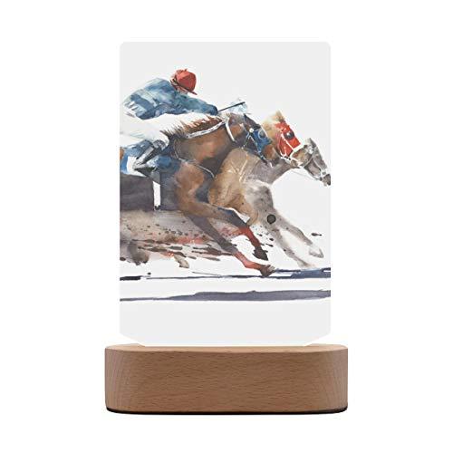 Marcos de fotos cuadrados Vaquero montado en un caballo Marco de fotos Adorno Tablero de fotos vertical Tablero de fotos con base de madera Pantalla de mesa para la galería de la oficina en casa 5.7x