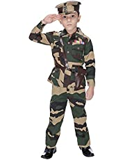Smuktar garments Army Costume for Kids (6 to 7 Years)
