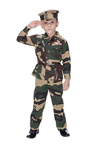 Smuktar garments Army Costume for Kids Green