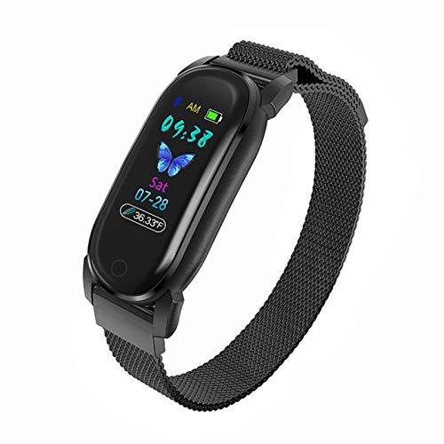 Pulsera de medición de Temperatura Corporal YD8 Smart Watch Sphygmomanometer Step Movement Fashion Fashion Smart Brazalet Watch para Android iOS,F