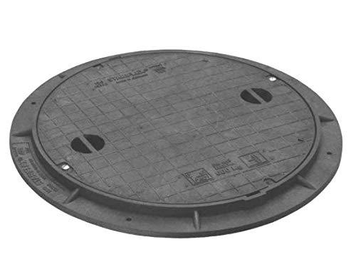 STABIFLEX Abdeckung BASIC-600kg-Typ1 (mit Griffmulden), Kanaldeckel, Schachtabdeckung, Zisternendeckel, Kunststoff leicht, Abdeckung Zisterne