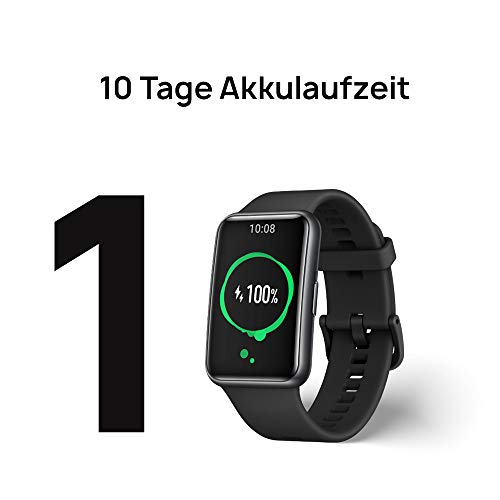 HUAWEI Watch Fit Smartwatch (42mm AMOLED-Display, Herzfrequenzmessung, 5ATM wasserdicht, GPS) Graphite Black [Exklusiv + 5 EUR Amazon Gutschein] - 5
