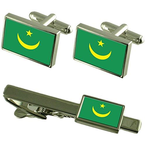 Select Gifts Flagge Mauretanien Manschettenknöpfe Krawatten passende Box Set
