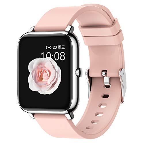 Smartwatch Reloj Inteligente Hombre Mujer, Smartwatch Impermeable IP67 con Pulsómetro, Calorías, Monitor de Sueño, Podómetro Ruta Pulsera Actividad Inteligente Reloj Deportivo para Android iOS