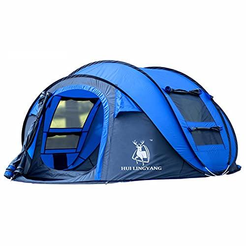 ZHHL Carpa Automática Al Aire Libre Apertura Rápida De Cuenta 3-4 Personas Camping Suministros Al Aire Libre Carpa Esencial Adulto Grande Senderismo Camping Carpa para Niños Blue