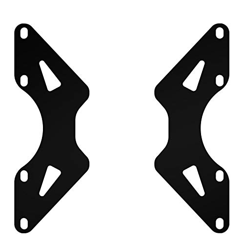 HUANUO Universal VESA Adapter Extension Plate Bracket - VESA Mount from 100x100mm to 200x100mm, 200x200mm, VESA Extender for Computer Monitor Stands