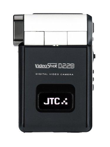 JAY-tech D22B VideoShot Camcorder (11 Megapixel, 6,1 cm (2,4 Zoll) LCD-Display, 8-fach digitaler Zoom, Musik Player) schwarz/weiß
