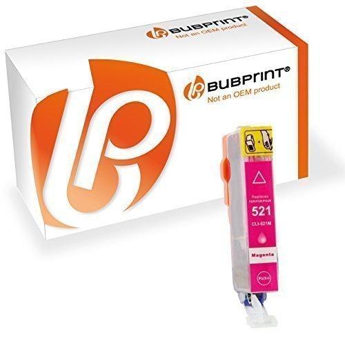 Bubprint Druckerpatrone kompatibel für Canon CLI-521M CLI 521M für Pixma IP3600 IP4600 IP4700 MP540 MP550 MP560 MP620 MP630 MP640 MP980 MP990 Magenta