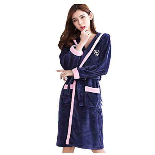 Bayue badjas voor dames, warm, voor de winter, van dikke en zachte stof, voor vrouwen