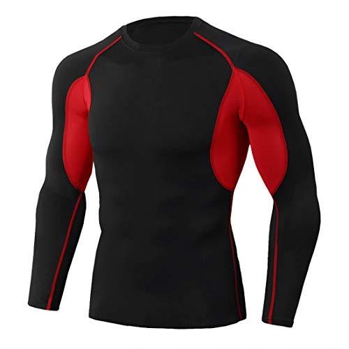 XWLY Men Shirt Men Sweatshirt Slim Fit Elastic Fiber Camouflage Comfortable Breathable Men Sweatshirt Spring Autumn Long Sleeve Fashion Fitness Jogging Riding Men Sweatshirt Red. M