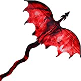 Beyond Your Thoughts Huge Kite for Kids and Adults Easy to Fly Single Line String with Tail for Beach Trip Park Family Outdoor Games and Activities Fiery Dragon