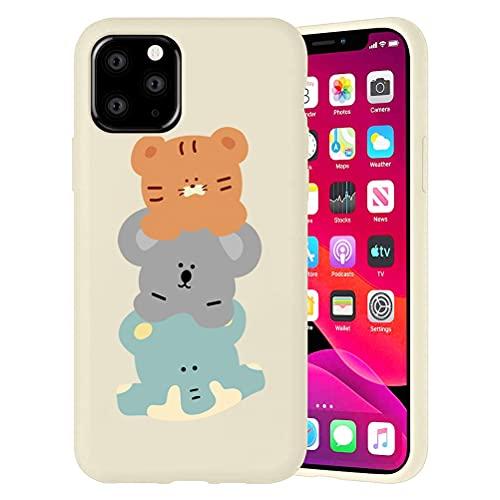 Pnakqil Funda para Apple iPhone 6 Plus / 6s Plus Patrón Silicona Cárcasa, Suave TPU Gel Antigolpes de Protector Piel Cover Bumper Case con Dibujos Diseño, Carcasa para iPhone 6s Plus, Animal Lindo