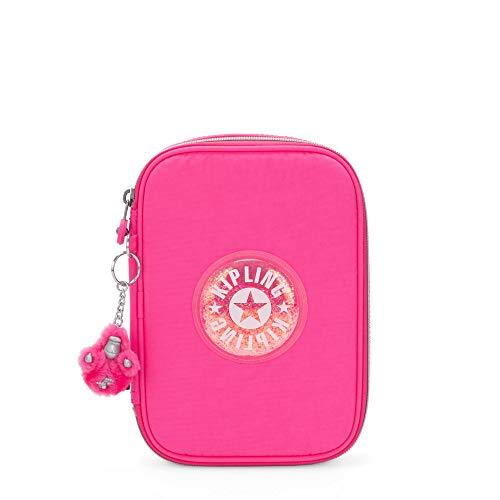 Kipling 100 Pens Pencil Case, Flashy Pink, 6'L X 8.25'H X 2'D