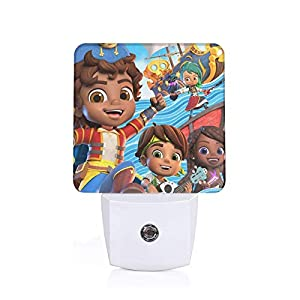 S-Ant-Iag-o O-f Joyful Th-e S-EAS Auto Sensor Led Dusk to Dawn Night Light Plug in Night Lights Lamp for Indoor Bedroom,White,Us