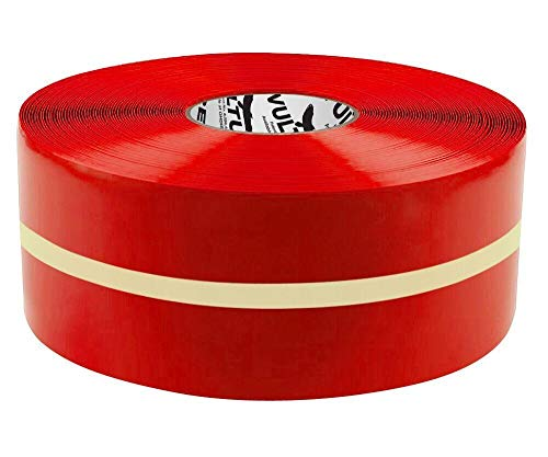 """Vulture Floor Tape Glow in The Dark Marking Tape, Solid with Glowing Center Line, Continuous Roll, 4"""" Roll, 1 EA, 45VR17"""