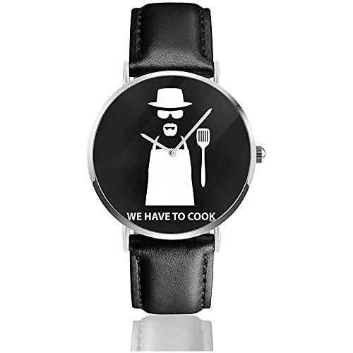 Unisex Breaking Bad Wir müssen Kochen Heisenberg Uhren Quarz Lederuhr mit schwarzem Lederband