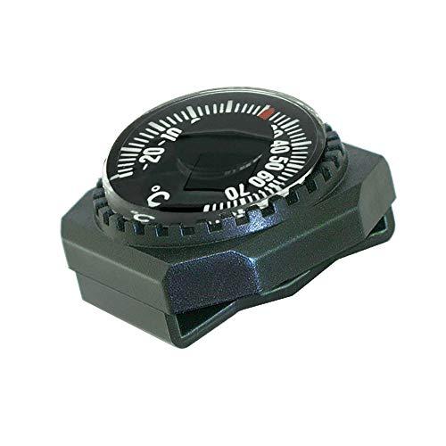 Sun Company Thermometer zum Aufschieben – leicht ablesbares Zifferblatt-Thermometer für Armband oder Paracord-Armband