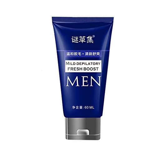 TIREOW 60g Bartentfernungscreme, Rasiermesserlose Rasiercreme Für Männer, Haarentfernungscreme Bärte Enthaarungscreme, Kein Rasiermesser Erforderlich
