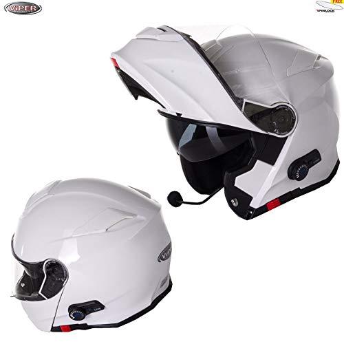 XS Viper RS-V171 Flip Up MotorradHelm Modularer Burgunder Fahrrad Bluetooth 3.0 Doppelvisier Absturzsicherung 53-54 CM