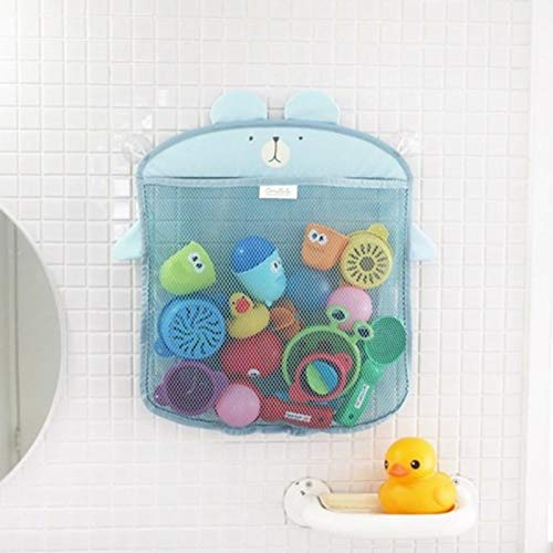 Best Quality - Bath Toy - baby cartoon hanging mesh for toys beach water bath toys for children bathroom folding shower net storage organize suction bags - by Stephanie - 1 PCs