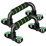 Push Up Bars Strength Training, The Push-Up Bracket Has a Non-Slip and Strong Structure, Pushup Stands Handle for Floor Workouts,Structure Portable for Perfect Push Up. (Black)