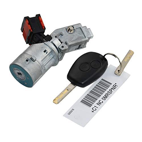 ZHUQUE Cerradura de encendido Barril Interruptor de arranque Cilindro para MK3 MK2 K3 2010 487004438R 7701208408 8200214168