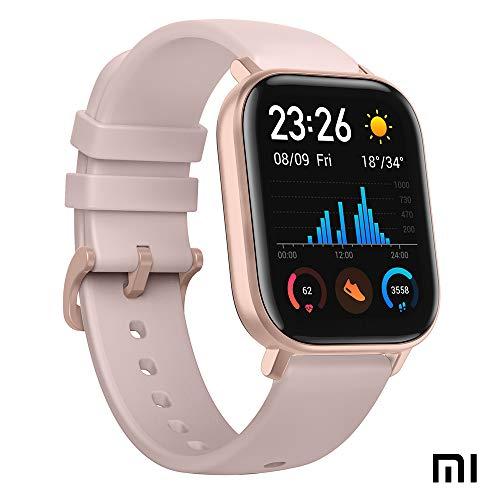 Xiaomi Amazfit GTS Reloj Smartwactch Deportivo | 14 días Batería | GPS+Glonass | Sensor Seguimiento Biológico BioTracker™ PPG | Frecuencia Cardíaca | Natación | Bluetooth 5.0 (iOS & Android) Rose-Gold