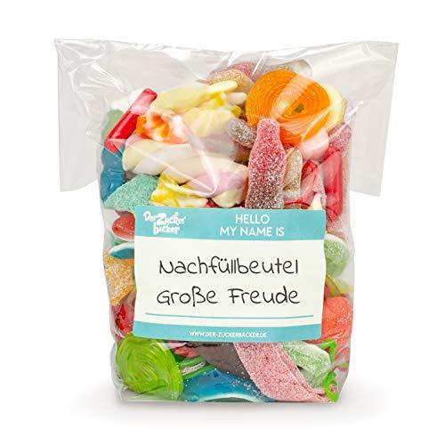 Nachfüllbeutel - Große Freude, Bunter Süßigkeiten-Mix mit Fruchtgummi und Kaubonbons