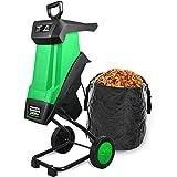 CRZJ Trituratore Multifunzionale per Rami fogliari, trituratore Elettrico da 2400 W cippatrice per Legno può Essere Rami spezzati