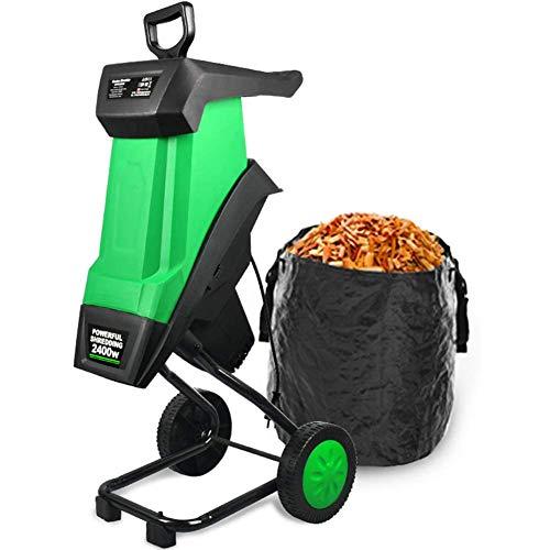 Multifunctional Leaf Branch Shredder, 2400W Electric Shredder Garden Tool...