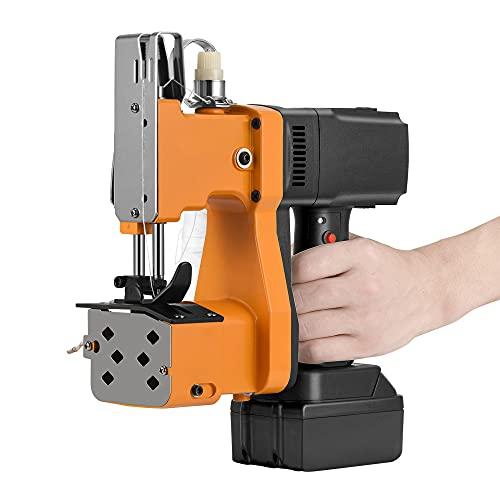 KKTECT Máquina de cierre de bolsas,maquina de coser portatil con batería de litio de 2200 mAh Máquina de coser portátil Máquina de coser de sacos portátil