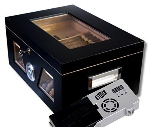 Lifestyle-Ambiente Cigar Oasis Ultra 2.0 Black Wonderful Kristallglas Humidor V-1320
