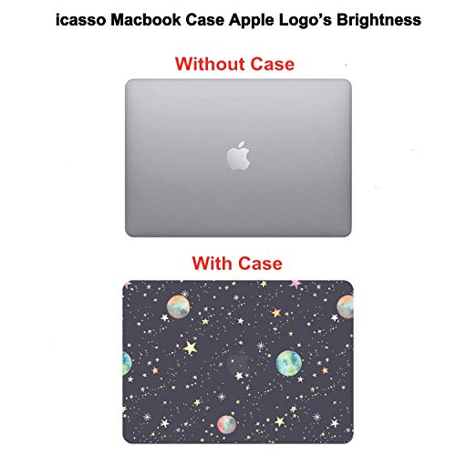 iCasso MacBook Air 13 Zoll Hülle 2020 2019 2018 Release A2337 M1/A1932/A2179 mit Retina Display Touch ID, Durable Hard Plastic Shell Case and Keyboard Cover Compatible MacBook Air 13 - Starry Night