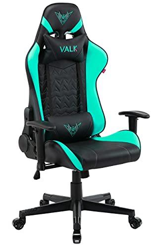 VALK Nyx - Silla Gaming, Silla Gamer, Reclinable 160º, Reposabrazos 2D, Transpirable, Ergonómica, Silla Escritorio Silla Oficina, Verde Menta