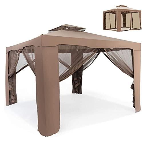 Screen magnifier Carpa con mosquitero (121 pies cuadrados de sombra) fácil instalación al aire libre instantánea cenador toldo refugio (marrón)