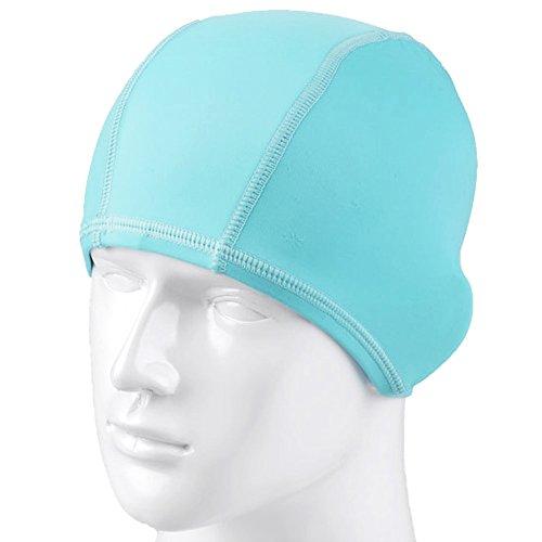 HugeStore Women Ladies Lycra Cloth Fabric Swimming Hat Swim Hat Cap Bathing Cap Blue