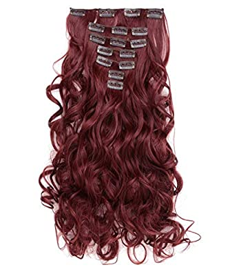 "Onedor 20"" Curly Full Head Clip in Synthetic Hair Extensions 7pcs 140g"